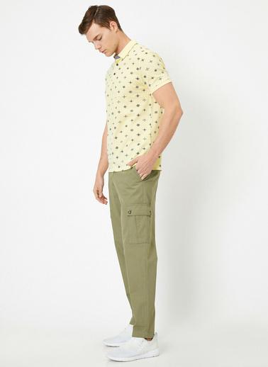 Koton Cep Detayli Pantolon Yeşil
